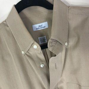 Brooks Brothers 346  Tan Non-Iron Dress Shirt 16.5